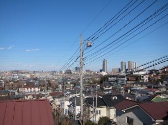 井田山から見える武蔵小杉方面