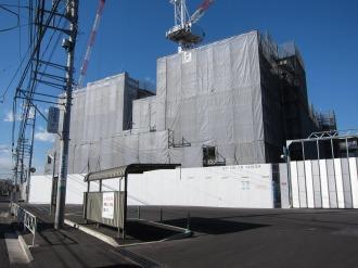 建設中の井田病院新棟