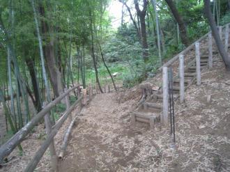 井田平台公園の山登りルート