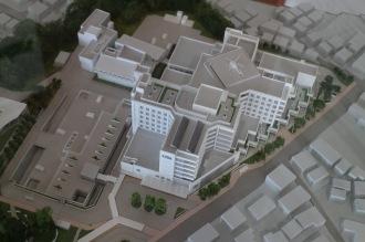 井田病院再整備の模型