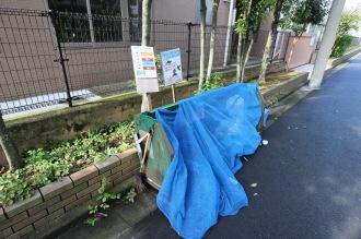 井田中学校前のごみ集積所