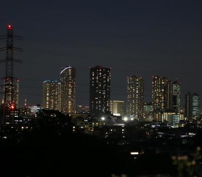 井田山から見える武蔵小杉の夜景