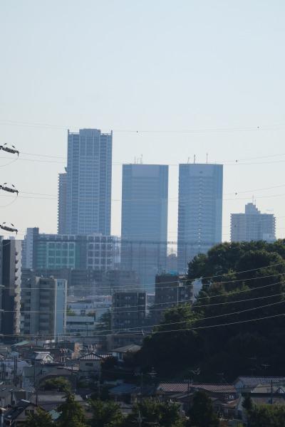 新川崎の高層ビル群