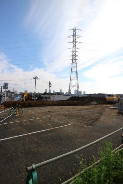 井田山周辺での新たな宅地開発