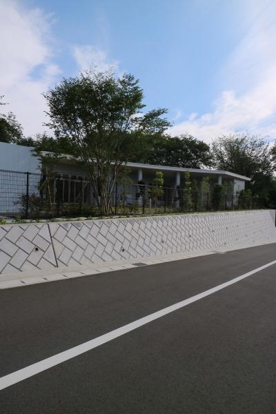 井田山の斜面沿いの院内保育園