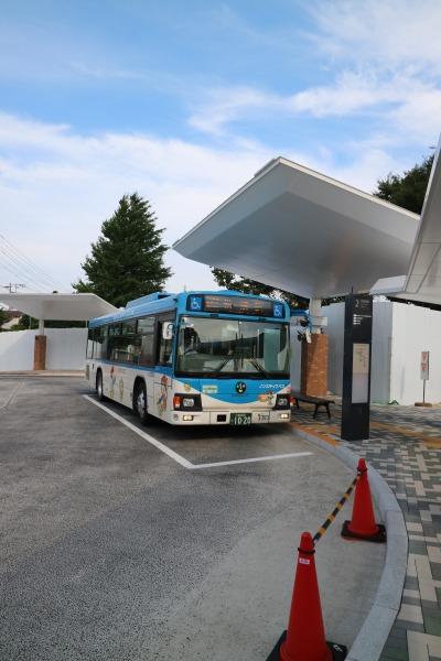 ロータリーの川崎市営バス