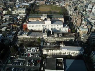日本医科大学武蔵小杉病院と新丸子キャンパス一帯