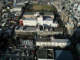 「学校法人日本医科大学武蔵小杉キャンパス再開発計画」の予定地