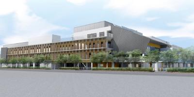 小杉地区新設小学校のイメージパース