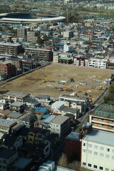 新丸子キャンパス校舎の解体跡地