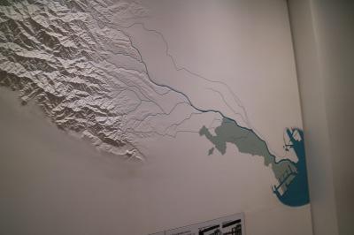 多摩川の地形に関する展示