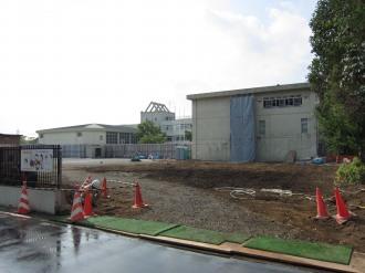 今井小学校の新校舎建設予定地