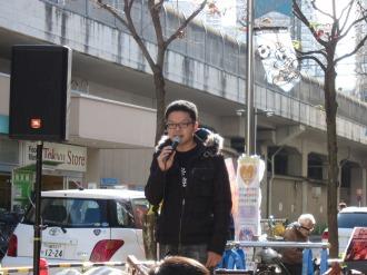 挨拶をされる反町充宏さん(In Unity2011実行委員長)