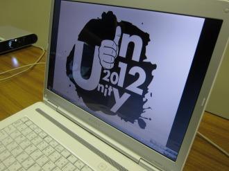 パソコンに表示された今回のフラッグデザイン