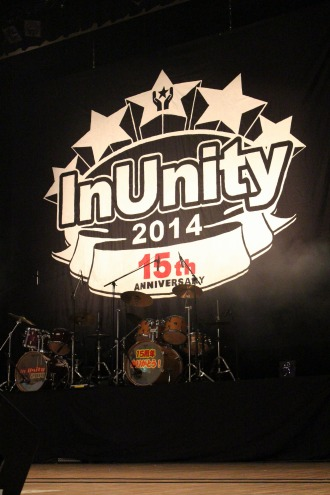 「In Unity2014」(昨年)のフラッグ