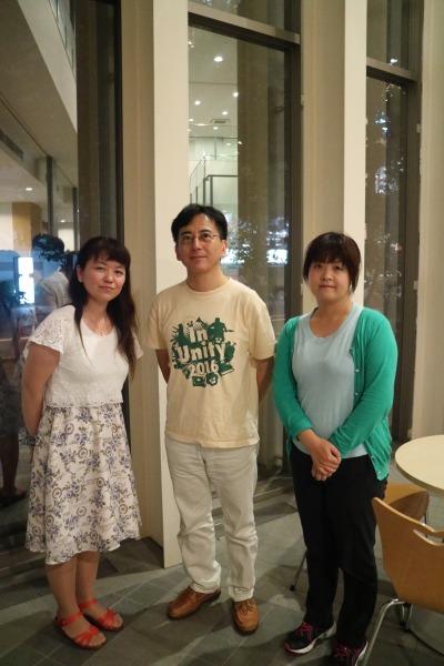 左から中山さん、小川さん、加味根さん