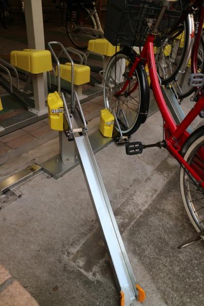 リニューアルされた駐輪設備