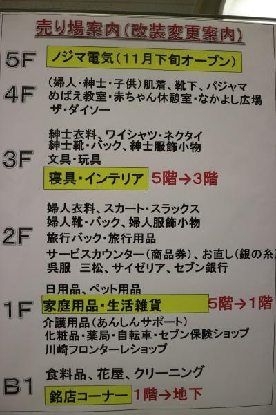 イトーヨーカドー武蔵小杉駅前店のフロア移動