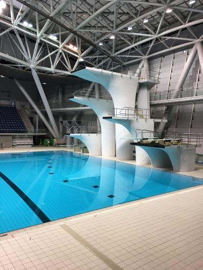 横浜国際プールのジャンプ台