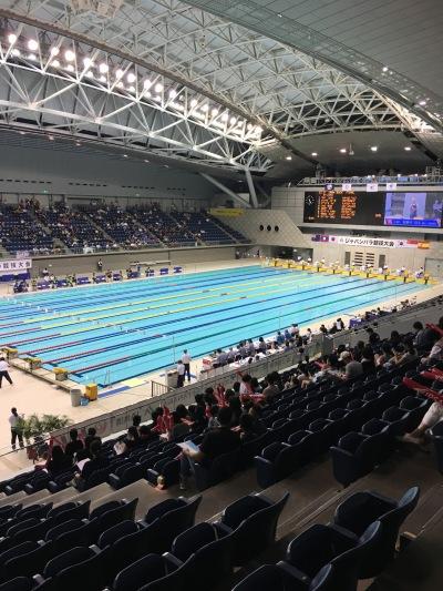 ジャパンパラ水泳競技大会開催中の横浜国際プール