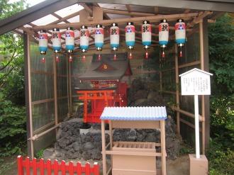 富士山の向かい側のお稲荷さん