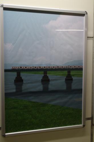 多摩川をわたる南武線