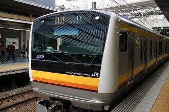 南武線に導入された新型車両「E233系」