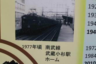 1977年頃 南武線武蔵小杉駅ホーム