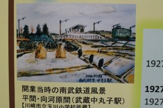 開業当時の武蔵中丸子駅(武蔵小杉駅開業88周年展示より)