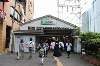 2013年8月の向河原駅