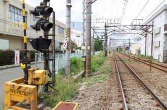 現在の武蔵中丸子駅跡地