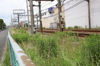 武蔵中丸子駅ホーム跡地