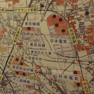 中原区の空襲マップ