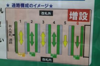 増設される自動改札機の構成