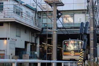 JR武蔵小杉駅に到着した「ありがとう運転」