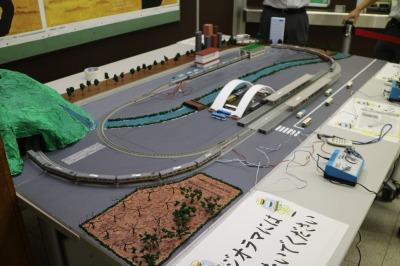 電車ジオラマ展示