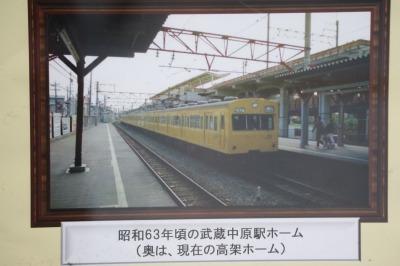 昭和63年頃の武蔵中原駅ホーム