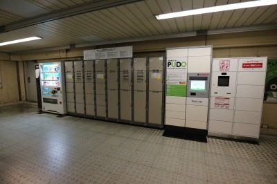 JR武蔵小杉駅北口の階段踊り場