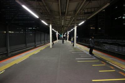 上りエスカレーターが新設される横浜寄りホーム先端