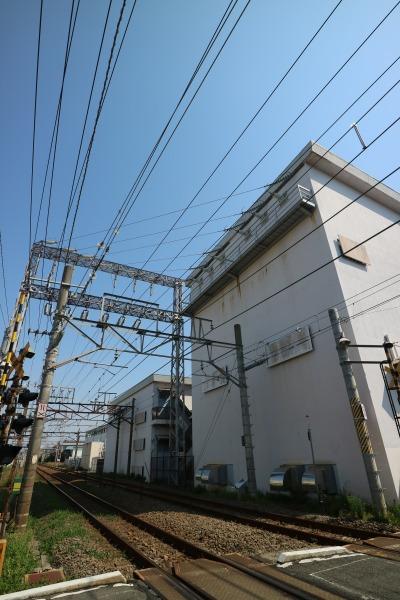 南武線とJR東日本向河原変電所