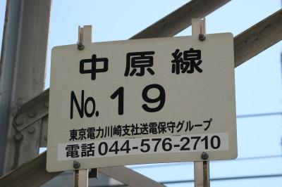 東京電力の送電鉄塔「中原線19号」