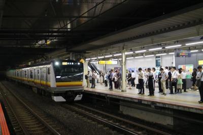 川崎方面ホームで停止した電車