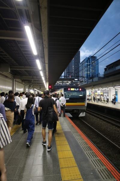 JR南武線武蔵小杉駅ホーム