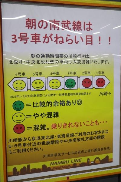 朝の南武線は3号車がねらい目!!