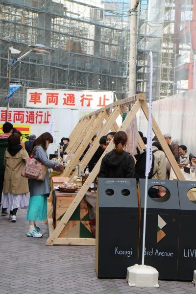 イトーヨーカドー武蔵小杉駅前店前の会場