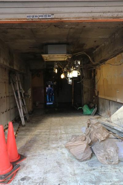撤去作業が進む武蔵小杉南口駅前の「中国料理一番」