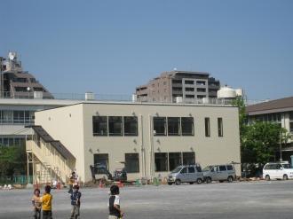 上丸子小学校の仮設校舎
