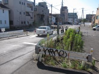 苅宿小田中線 東横立体工区の事業用地