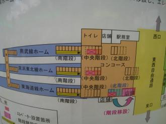 JR川崎駅のエレベーター設置図面