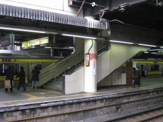 南武線のエレベーター設置箇所(ホーム)
